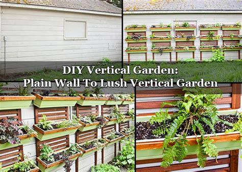 diy vertical garden plain wall to lush vertical garden