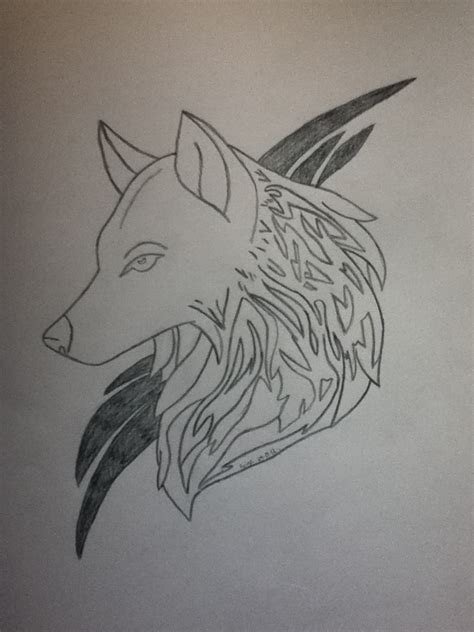 how to draw a wolf tattoo wolf tattoo step by step magic wolf drawings