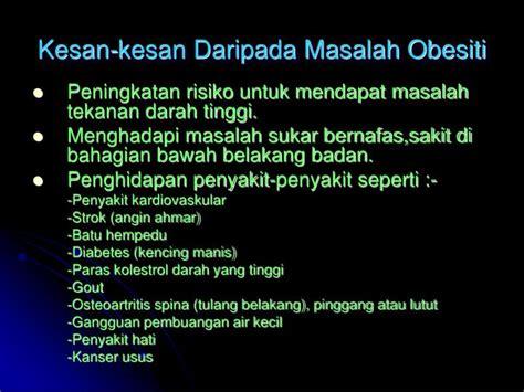 masalah obesiti  masyarakat  hari
