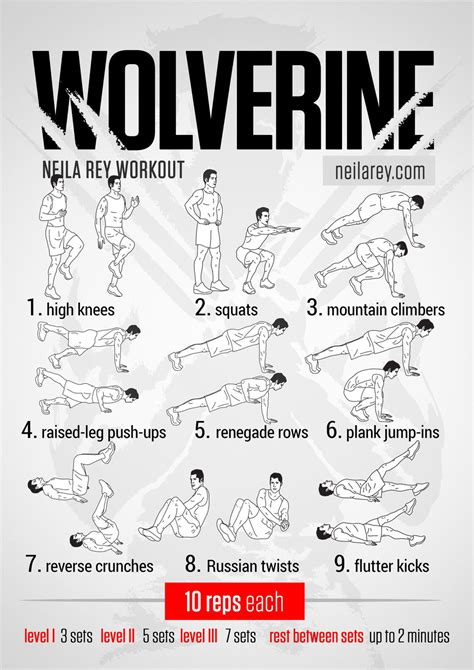 wolverine workout 187 health and fitness