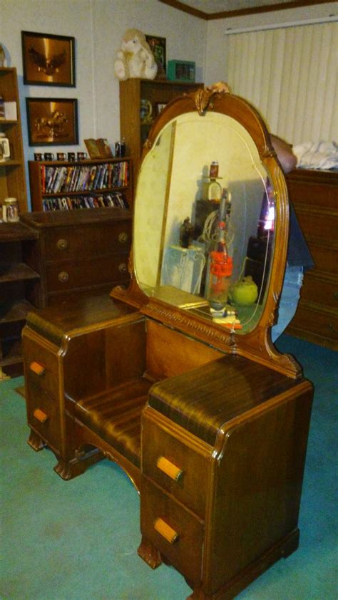 antique waterfall vanity dresser waterfall vanity my antique furniture collection