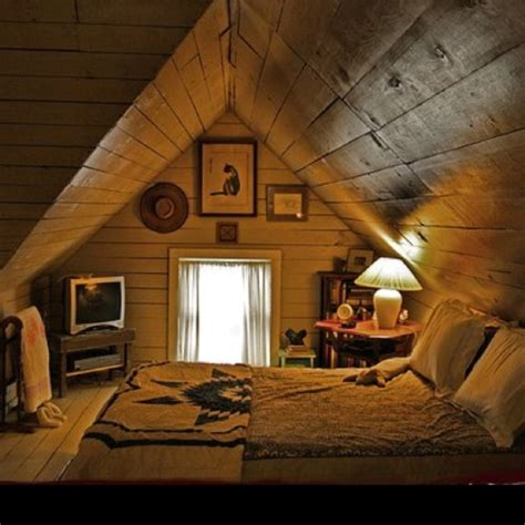 Rustic Attic Bedroom | rustic attic room popomo ponderings pinterest