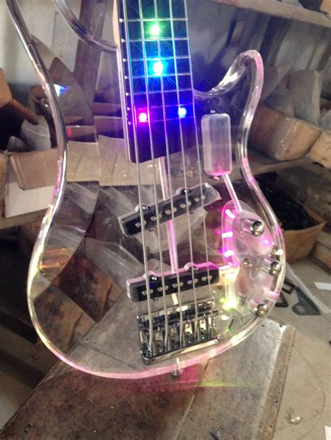 The Light Like A Guitar Only With Light by High Quality 4 Strings Led Light Acrylic Electric Bass