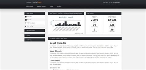 simple html admin template free html css backend admin panel template