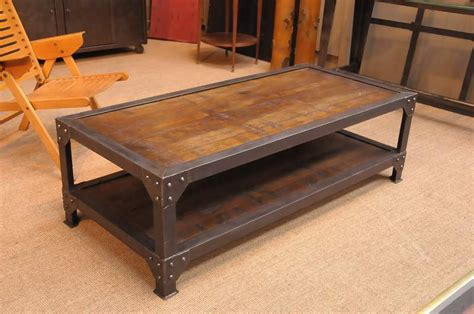 two tiet industrial coffee table 11