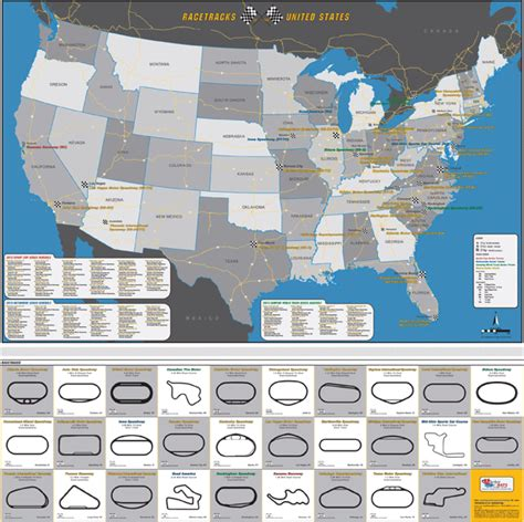 usa track map it where are nascar race tracks located mapsales