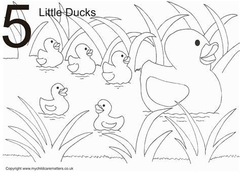 Five Little Ducks Coloring Pages | little ducks colouring page 5 little ducks colouring