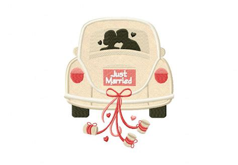 Home Design Software Reviews just married car includes both applique and stitched