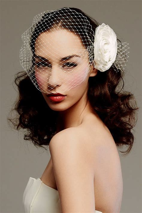 bridal hairstyles with birdcage veil posh bridal veils blushers and wedding head chic onewed