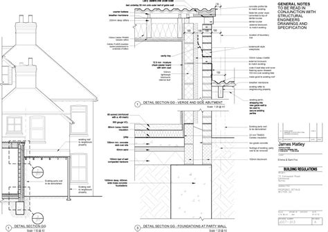 House Plans 4 Bedroom by House Extension Party Wall Detail James Matley Architect