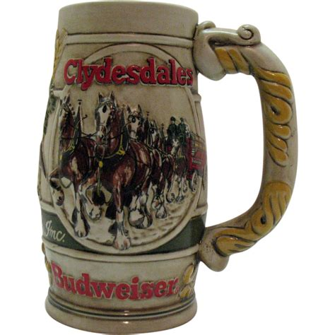 Budweiser L Vintage by Vintage Budweiser Promotional Advertising Stein 1980s
