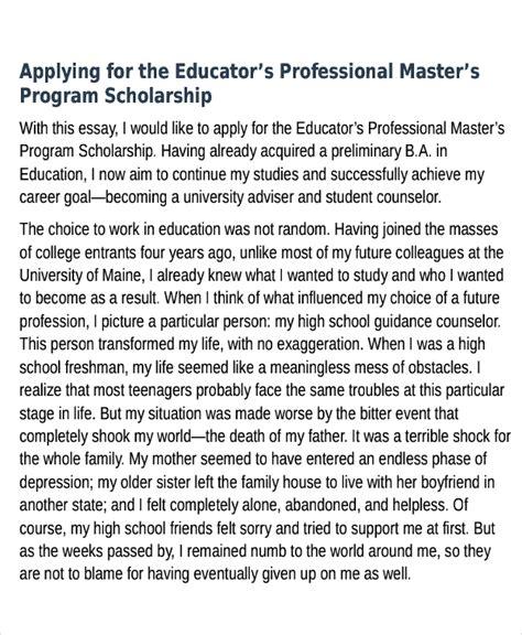 Scholarship Essays Sles For College Students 10 scholarship essay exles sles pdf