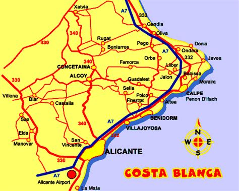 calpe spain map calpe map gif quotes