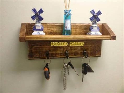 Decorative Wall Hooks For Hanging Diy Pallet Key Rack And Shelf 99 Pallets