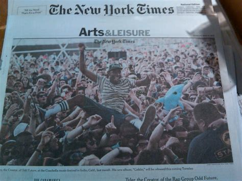 ny times art section new york times arts section 28 images odd future front