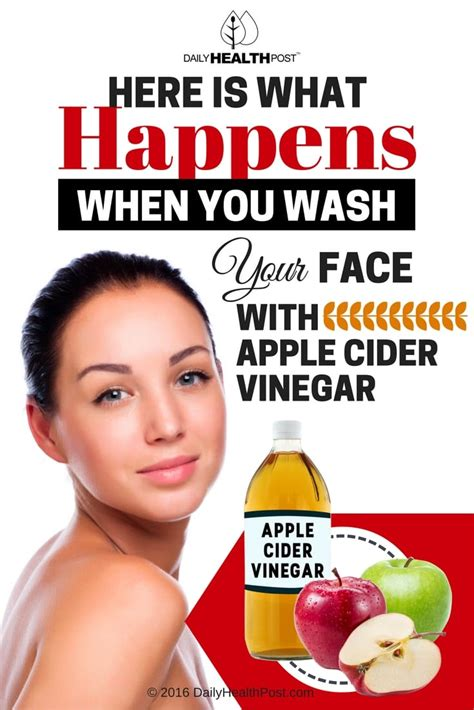 apple vinegar for face here is what happens when you wash your face with apple