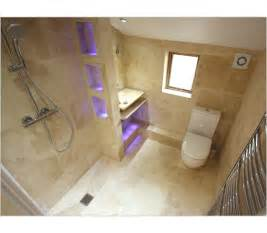 Small Attic Bathrooms - enclosed wet room en suite stone amp chrome