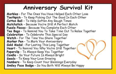 Anniversary Survival Kit In A Can To Give A Couple