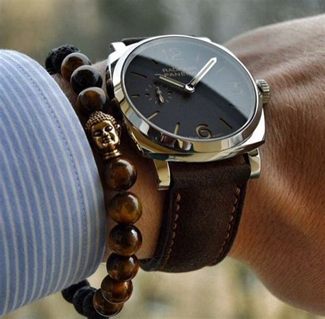 Panerai paired with brown onyx bead Buddha bracelet   Hommens   Pinterest   Bracelets, Brown and