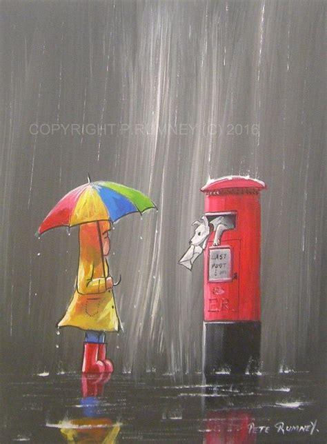 acrylic painting umbrella pete rumney buy original acrylic painting in