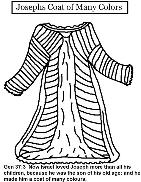 coloring pages of joseph and his coat of many colors joseph and his coat of many colors coloring page az