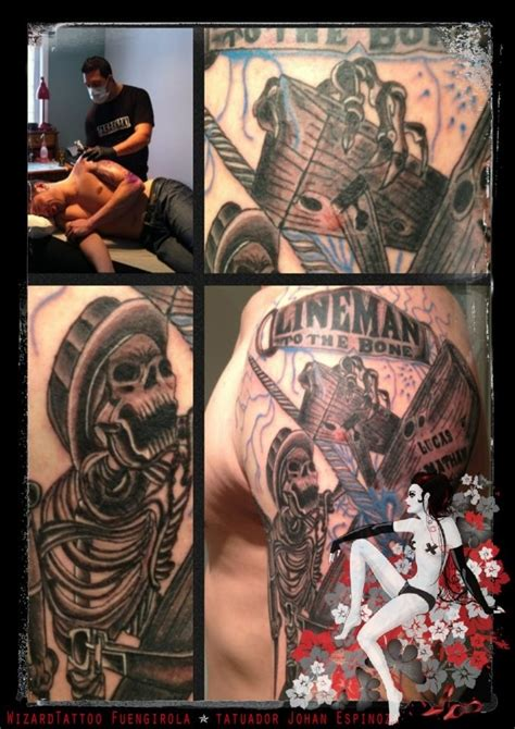lineman tattoo lineman 2013 wizardtattoo fuengirola