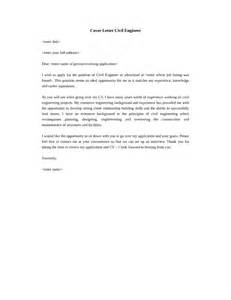 Cover Letter For Civil Engineer by Civil Engineer Technician Cover Letter Sles And Templates