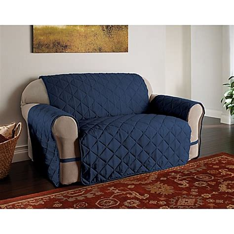 navy microfiber sofa buy microfiber ultimate sofa protector in navy from bed