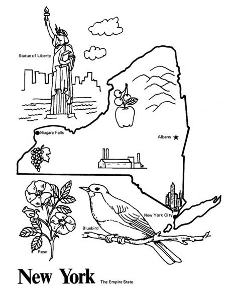 17 Best Ideas About New York Maps On Pinterest Map Of New York City Coloring Pages