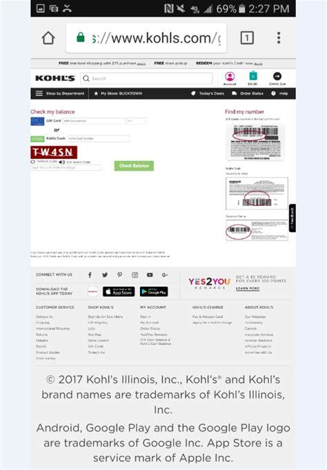 Kohl S Gift Card Check Balance - kohls gift card balance check lamoureph blog