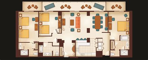Disney Club 2 Bedroom Villa Floor Plan - disney club villas 1 bedroom floor plan