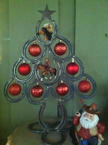 horseshoe christmas tree with metal star two by