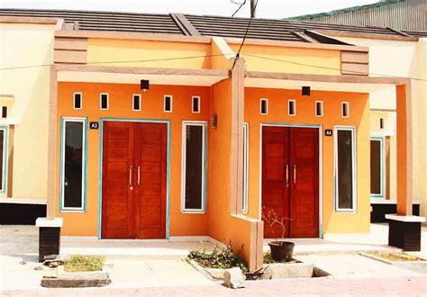 inspirasi desain warna cat rumah minimalis tampak depan