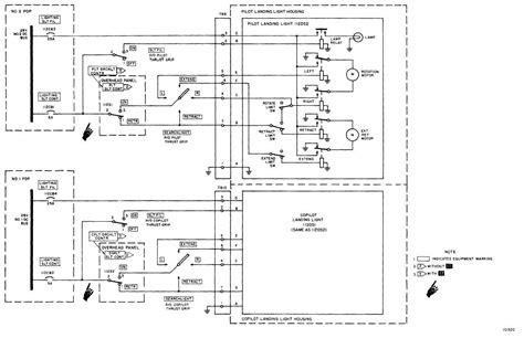 landing lights searchlights schematic diagram