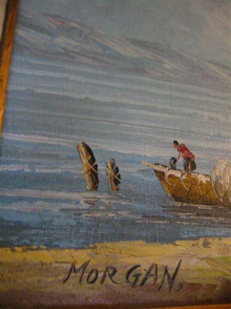 morgan seascape oil  canvas coastal maritime signed