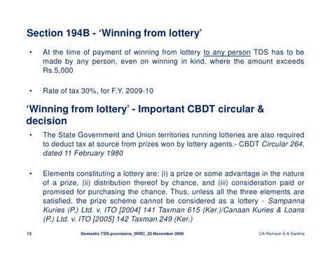 Irc Section 107 by Domestic Tds Provisions Wirc 25 11 2009