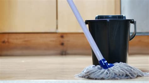 mopping floor stock footage video shutterstock