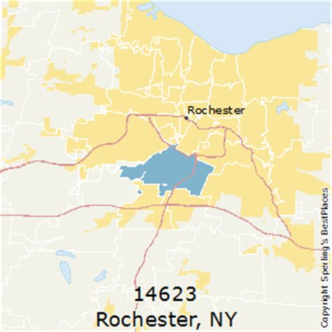 zip code map rochester ny best places to live in rochester zip 14623 new york