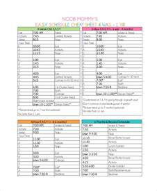 baby routine template baby feeding schedule 9 free word pdf psd documents