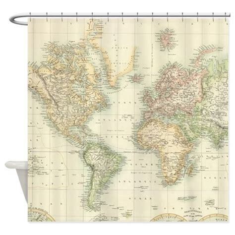 map of the world shower curtain vintage map of the world 1872 shower curtain by admin