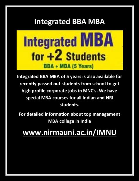 Bms Mba Integrated Course by Top Management College For Integrated Bba Mba In India