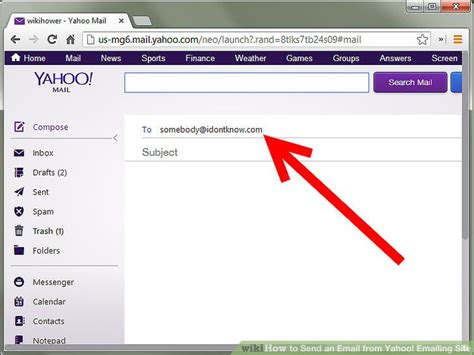 yahoo email not sending how to send an email from yahoo emailing site 6 steps