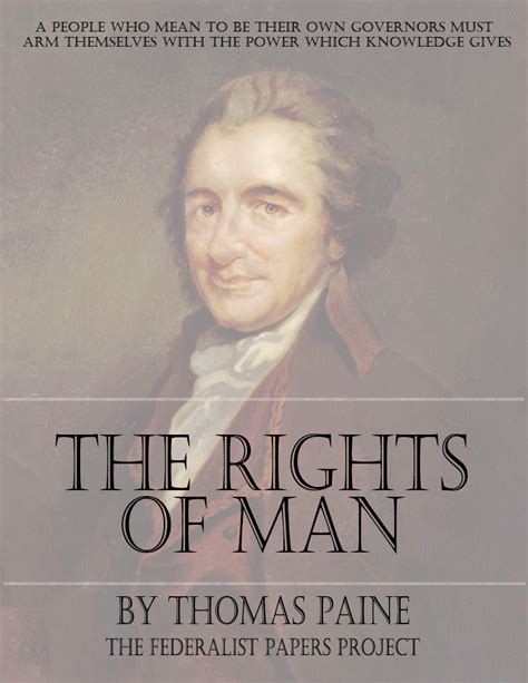 thomas paines rights of the rights of man by thomas paine
