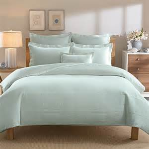 buy real simple 174 linear twin duvet cover in aqua from bed bath amp beyond