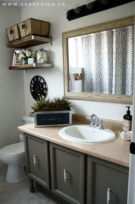 Industrial Bathroom Vanities by Vintage Industrial Glam Bathroom Reveal