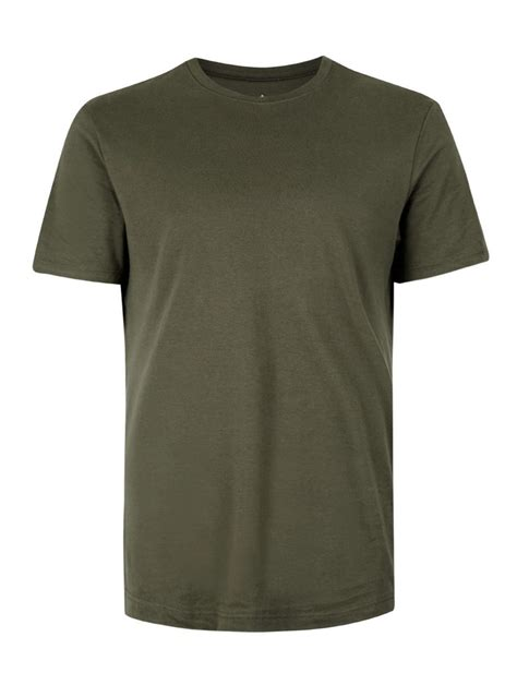 The T Shirt khaki jersey slim fit t shirt topman