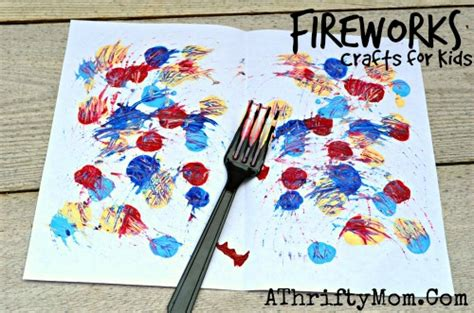 decorations and crafts painted fireworks and easy 4th of july craft ideas