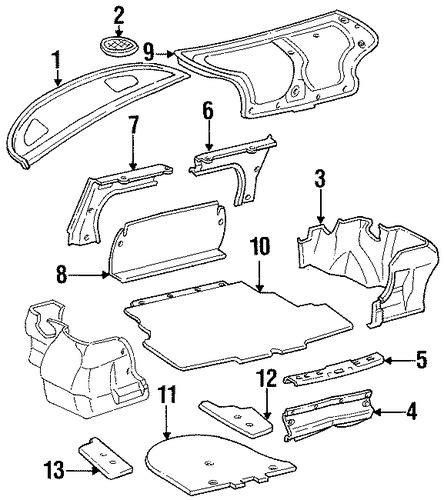 Toyota Interior Parts Genuine Oem Interior Trim Rear Parts For 1997