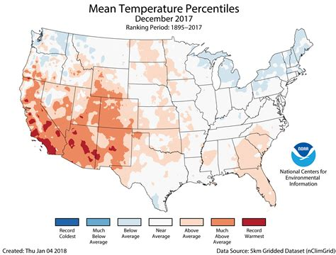 us average temperature map december assessing the u s climate in 2017 national centers for