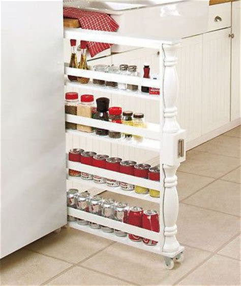kitchen cabinet rolling shelves wood wooden rolling slim can spice rack kitchen cabinet